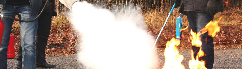 illustration exercice incendie Base à la sûreté de l'Aviation Civile
